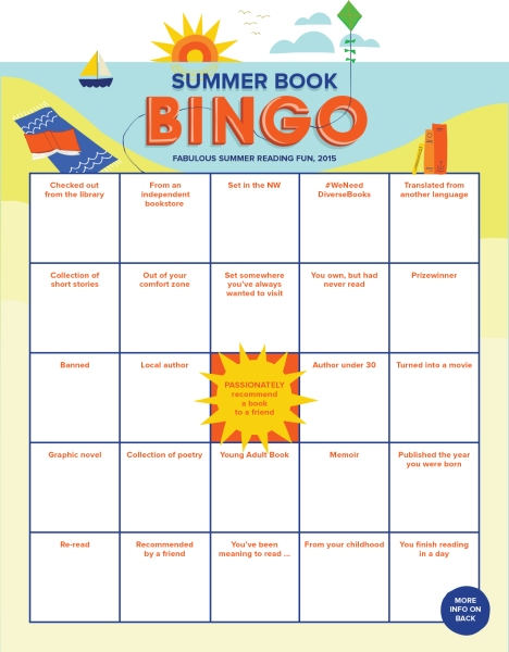 Summer Book Bingo Card